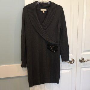 Michael Kors gray sweater Dress. Size L. New